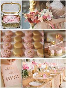 Weddings by Color ¦ Shades of Pink + Gold - Wedding