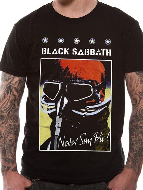 black sabbath never say t shirt tm shop