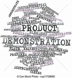 Stock Illustration of Product demonstration - Abstract ...