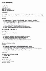 Relevant Experience Resume Samples Nursing Student Resume Must Contains Relevant Skills
