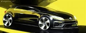 Volkswagen Golf R 400 Concept Car  Sketch