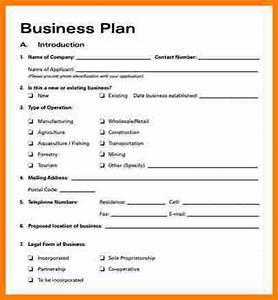 7 simple business plan template word letter format for With simplified business plan template