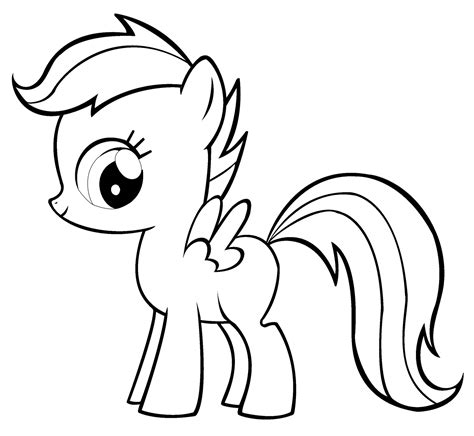 pony coloring pages fluttershy baby