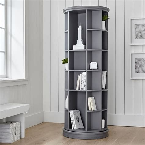How To Build A Revolving Bookcase by Revolving Bookcase Pottery Barn