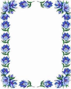 Border Frame Flower Clipart - ClipartXtras