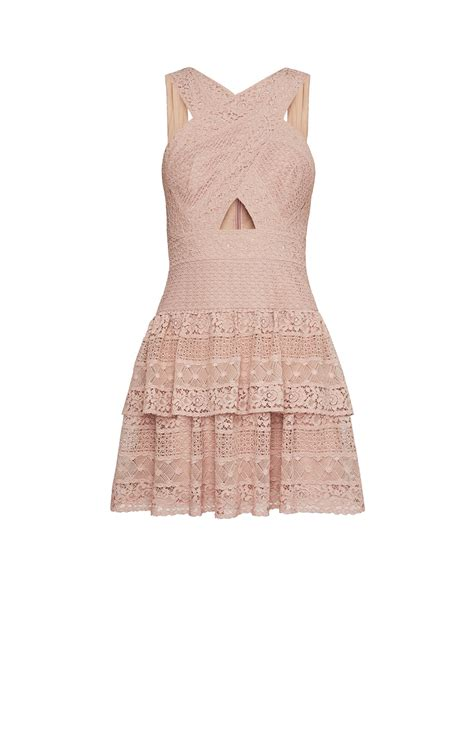 alissa ruffled lace dress bcbgcom