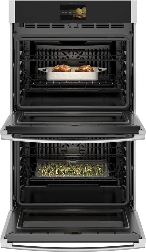 ge profile ptdsnss   double wall oven wifi air fry  clean stainless steel