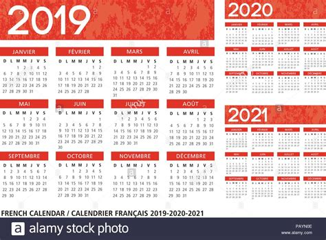 french language orange textured calendar vector template
