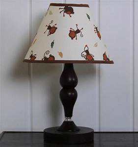 Geenny amazon jungle animals lamp shade baby nursery for Jungle floor lamp for nursery