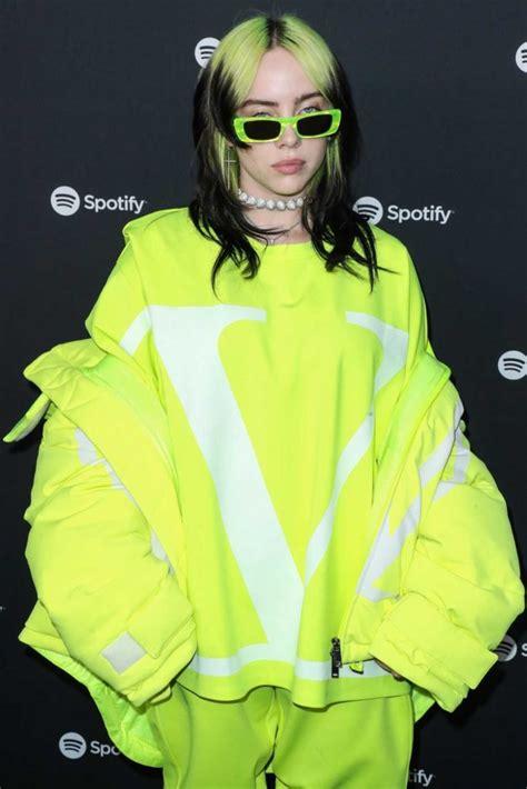 billie eilish attends  spotify   artist party