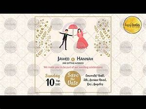 save the date video invitation wedding marriage With wedding invitation animation template