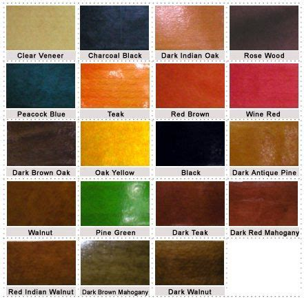colour options in wood stains color wood