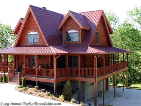 metal home with wrap around porch log cabin t metal wrap