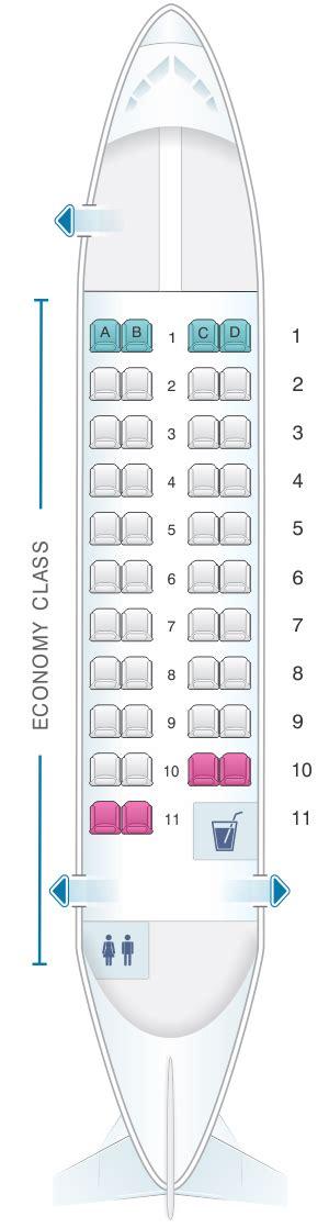 plan des si鑒es air mapa de asientos calm air atr 42 300 42pax plano avión seatmaestro es