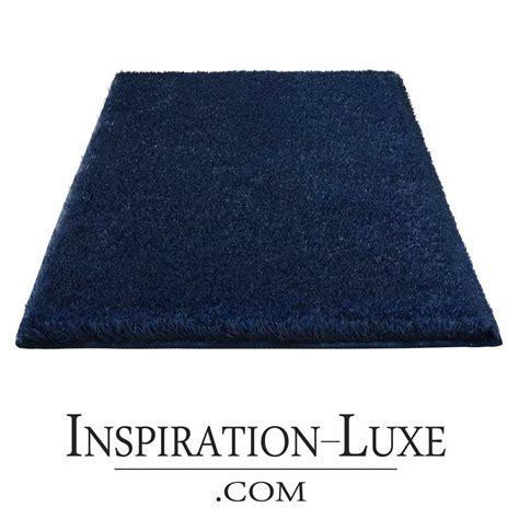 tapis de sortie de tapis de salle de bain de luxe bleu marine