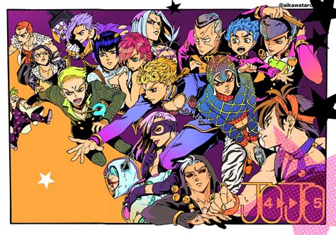 Part 5 Fan Art By Aikawataro (with Josuke & Okuyasu