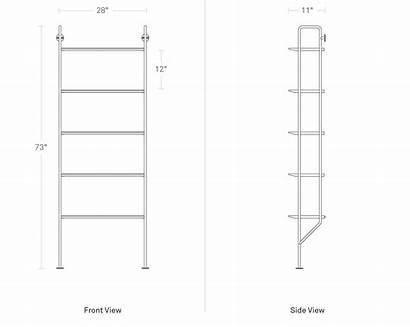 Bookcase Wood Hitch Shelves Bludot Sold