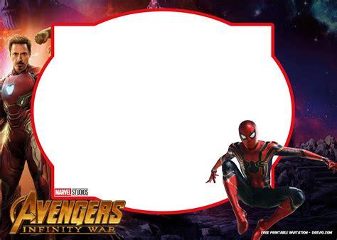 avengers infinity wars invitations template