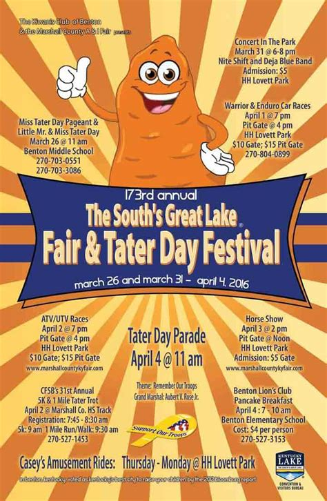 annual tater day event rundown marshall county dailycom