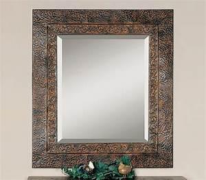 Grand Cadre Deco : elegant miroir dco cadre mtallique patin with miroir industriel deco ~ Teatrodelosmanantiales.com Idées de Décoration
