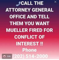 call  attorney general office