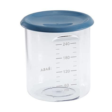 pot de conservation beaba pot de conservation maxi portion 240 ml tritan blue de beaba sur allob 233 b 233