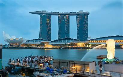 Marina Bay Pantalla Singapore Fondo Sands Desktop