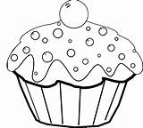 Coloring Cake Pages Cartoon Pop Cupcake Birthday Cup Popular Template Coloringhome sketch template