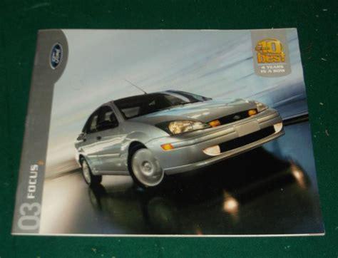 buy  ford focus dealer sales brochure sedan zx zx