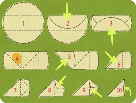 cuisiner des feuilles de brick plier une feuille de brick en triangle schéma sur le