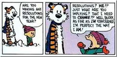 Calvin Hobbes New Year's Resolutions