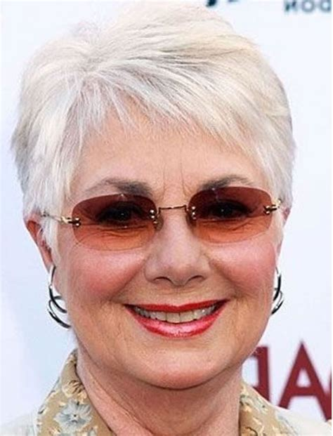 Endearing White Hair Color Pixie Haircuts for Older Women