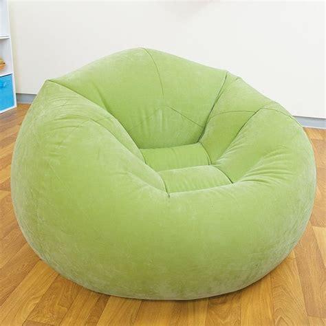 pouf siege pouf siège fauteuil gonflable design et coloré vert