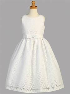 robes de communion pour fille de couleur blanche en coton With robe blanche bébé fille
