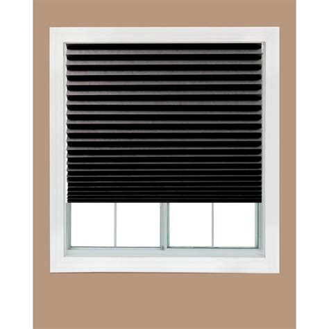 black window blinds redi shade white fabric light filtering window shade 48