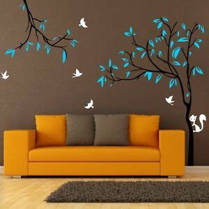 Giant Tree Birds Squirrel Nursery Wall Stickers Removable