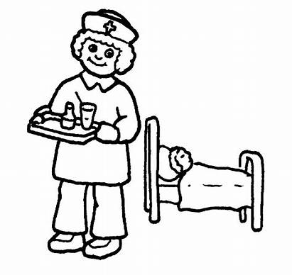 Nurse Nurses Coloring Pages Clipart Cartoon Tools