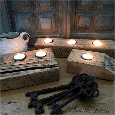 barn wood tea light candle holder rustic decor