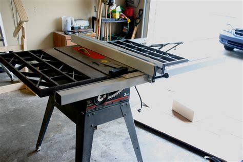 fence upgrade option  older craftsman cast iron table