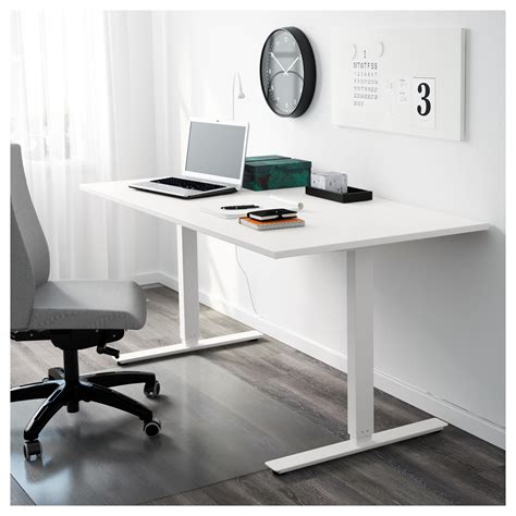 ikea sit and stand desk skarsta desk sit stand white 160x80 cm ikea