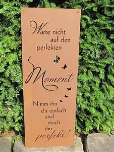 Holzbrett Mit Spruch : edelrost gedichttafel perfekter moment die tafel ist aufw ndig gestaltet mit vielen ~ Sanjose-hotels-ca.com Haus und Dekorationen