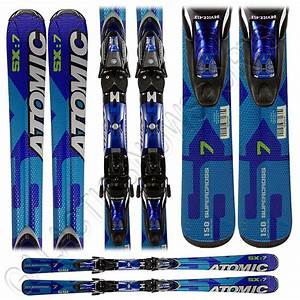 New Atomic Supercross Sx7 Skis With Bindings Blue