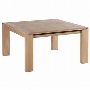 Table Chene Et Metal : table carree chene et metal patine en 1m40 ambiance meubles ~ Teatrodelosmanantiales.com Idées de Décoration