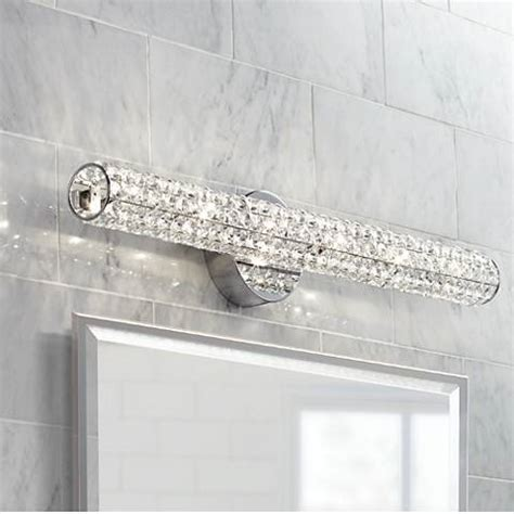 vienna full spectrum crystal bar   wide bath fixture