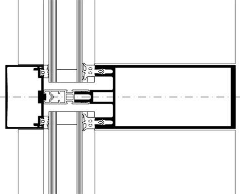 pfosten riegel fassade detail schüco standard 50 mm