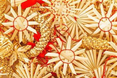 straw christmas ornaments  stock photo public domain