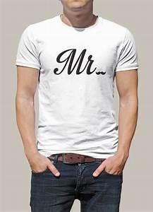T Shirt Personnalisé Fete Des Peres : t shirt personnalis avec le flocage mr id e de cadeau pour un anniversaire ou pour la st ~ Melissatoandfro.com Idées de Décoration