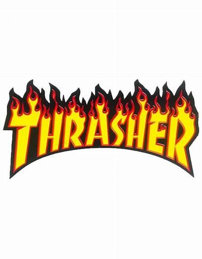 Magazine Thrasher Flame Stickers Google Logos Supreme