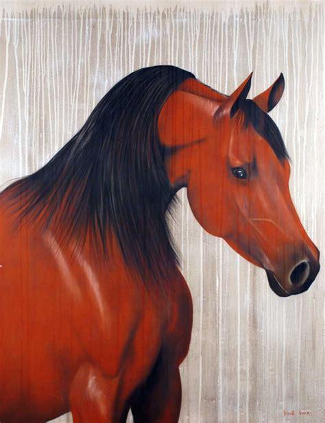 horse arabian animal thoroughbred painting rouge animals