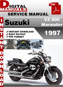Suzuki Vz 800 Marauder 1997 Factory Service Repair Manual Pd